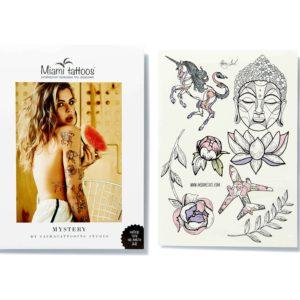 Набор переводных тату Mystery by Nora INK формат А4