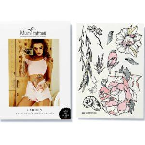 Набор переводных тату Garden by Nora Ink в формате А4