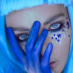 Клеящиеся кристаллы для лица Crystalzzz Stars in Blue
