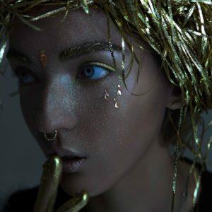 Клеящиеся кристаллы для лица Crystalzzz Drops in Gold
