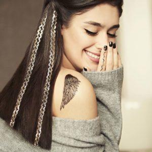 Переводные татуировки для волос и тела