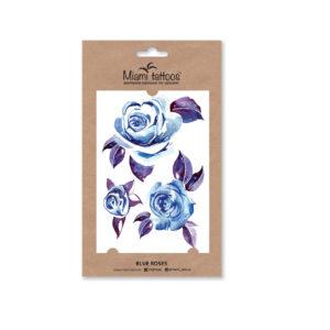 Акварельные переводные тату Blue Roses